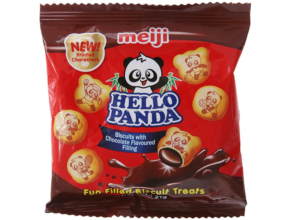 Bánh gấu nhân kem socola Meiji Hello Panda gói 21g 2