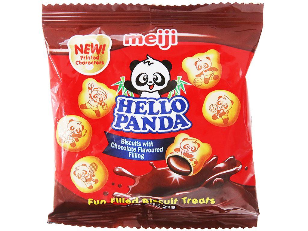 Bánh gấu kem socola Meiji Hello Panda gói 21g 1