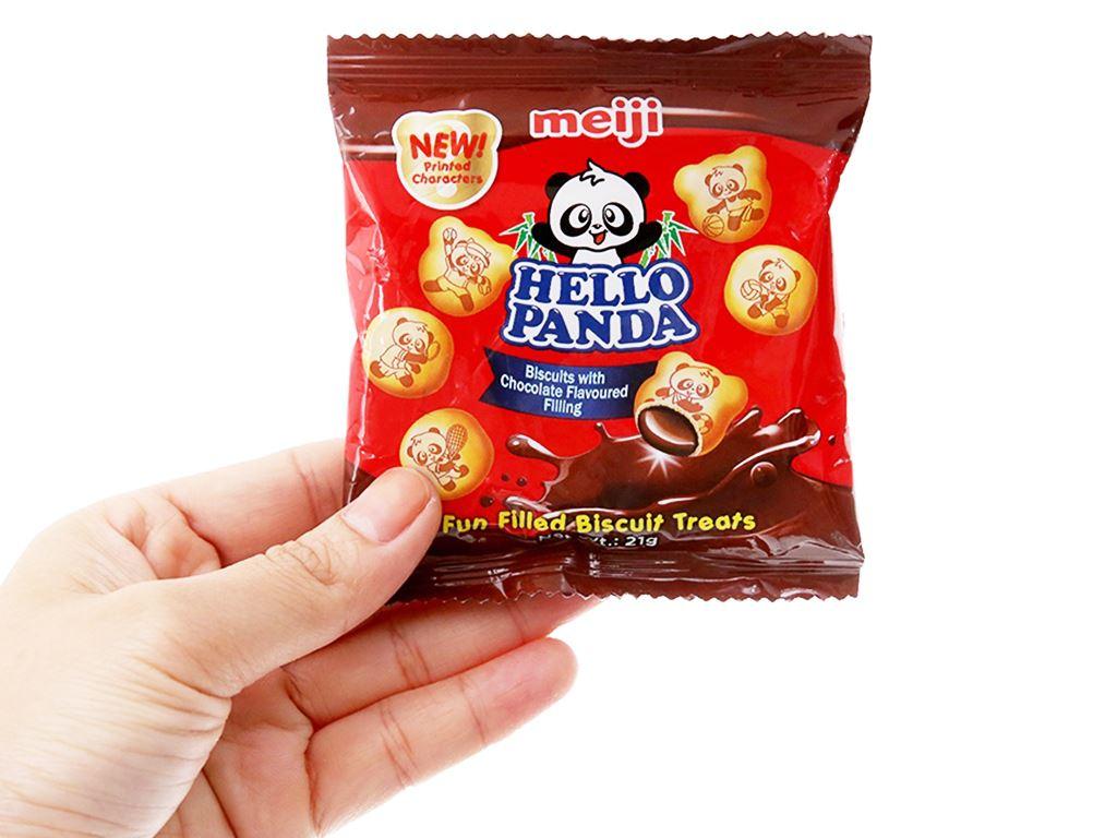 Bánh gấu kem socola Meiji Hello Panda gói 21g 3