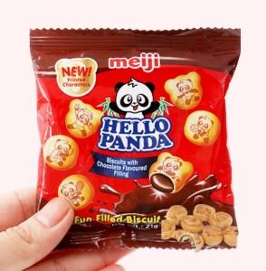 Bánh gấu kem socola Meiji Hello Panda gói 21g