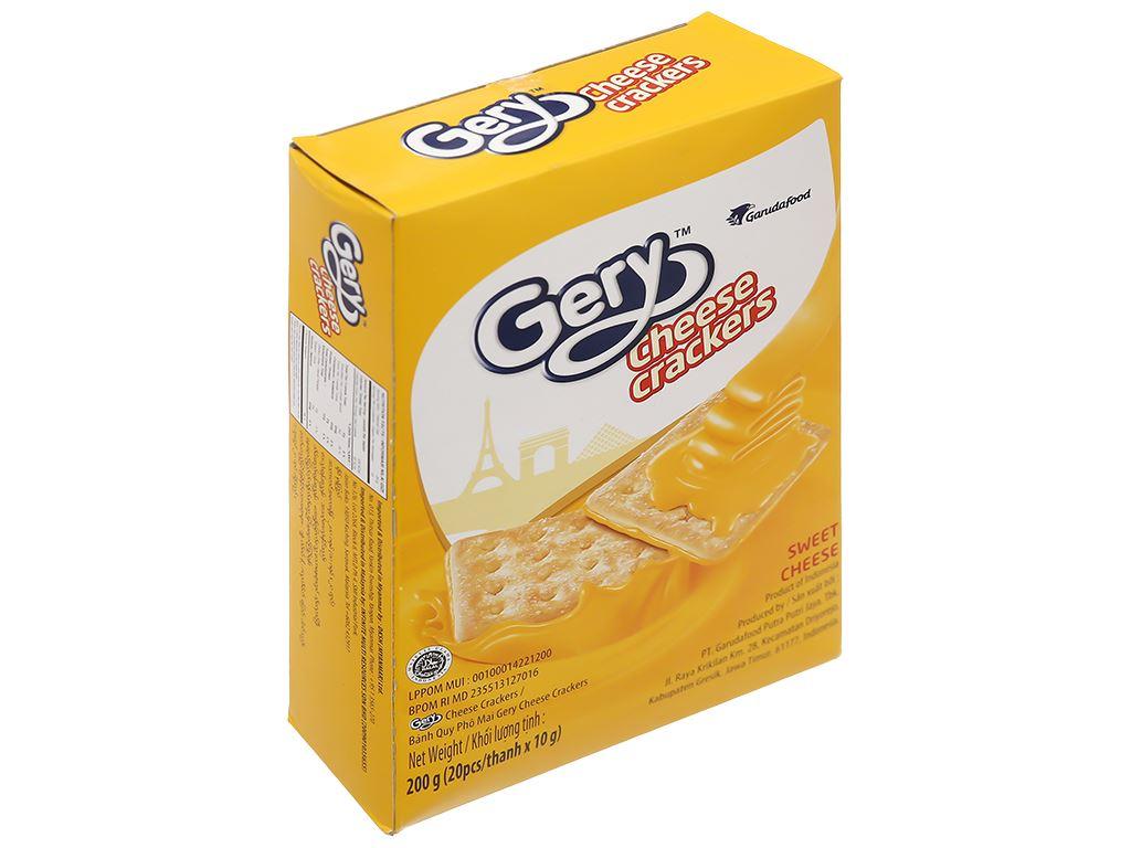 Bánh cracker phô mai Gery hộp 200g 1