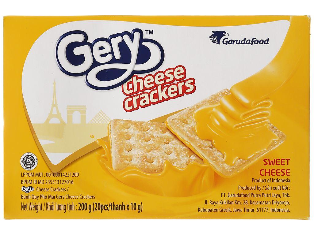 Bánh cracker phô mai Gery hộp 200g 3