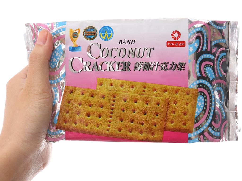 Bánh quy Coconut Carcker phủ đường gói 180g 5
