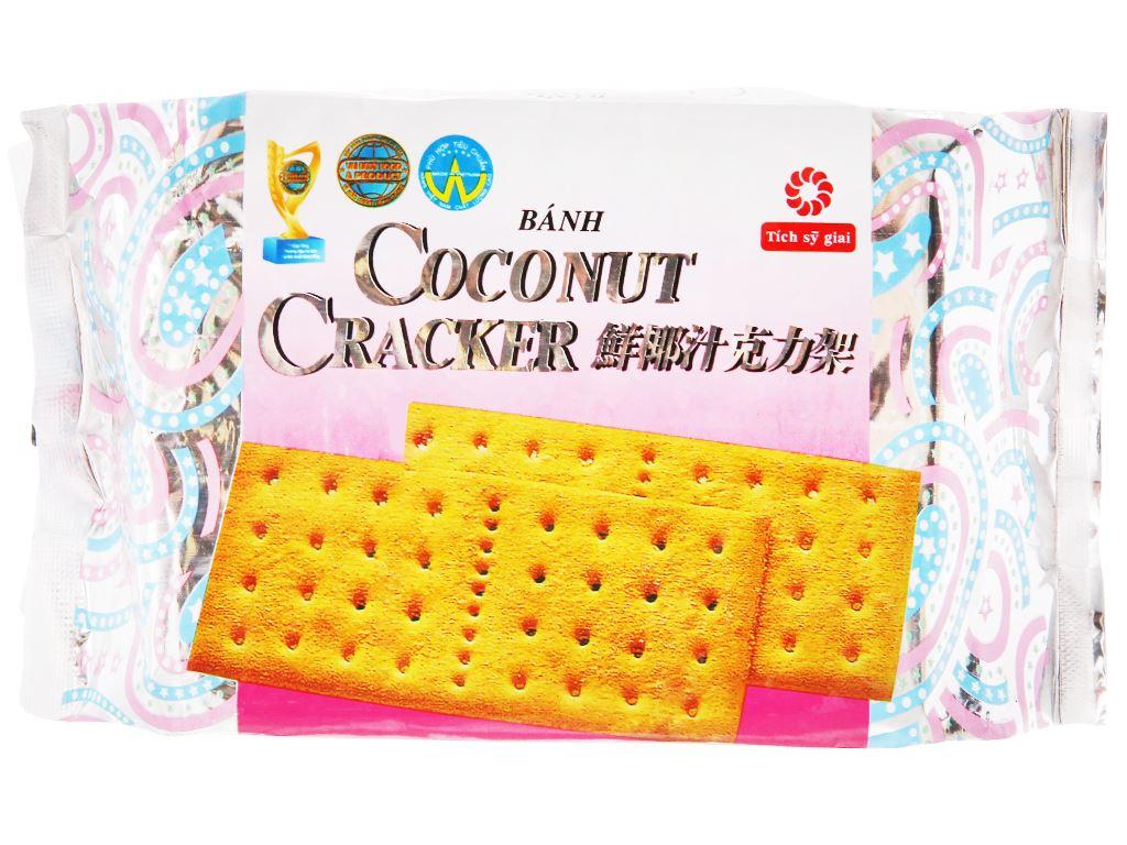 Bánh quy phủ đường Coconut Cracker gói 180g 1