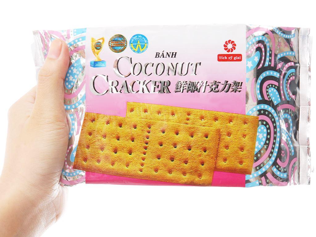 Bánh quy phủ đường Coconut Cracker gói 180g 3