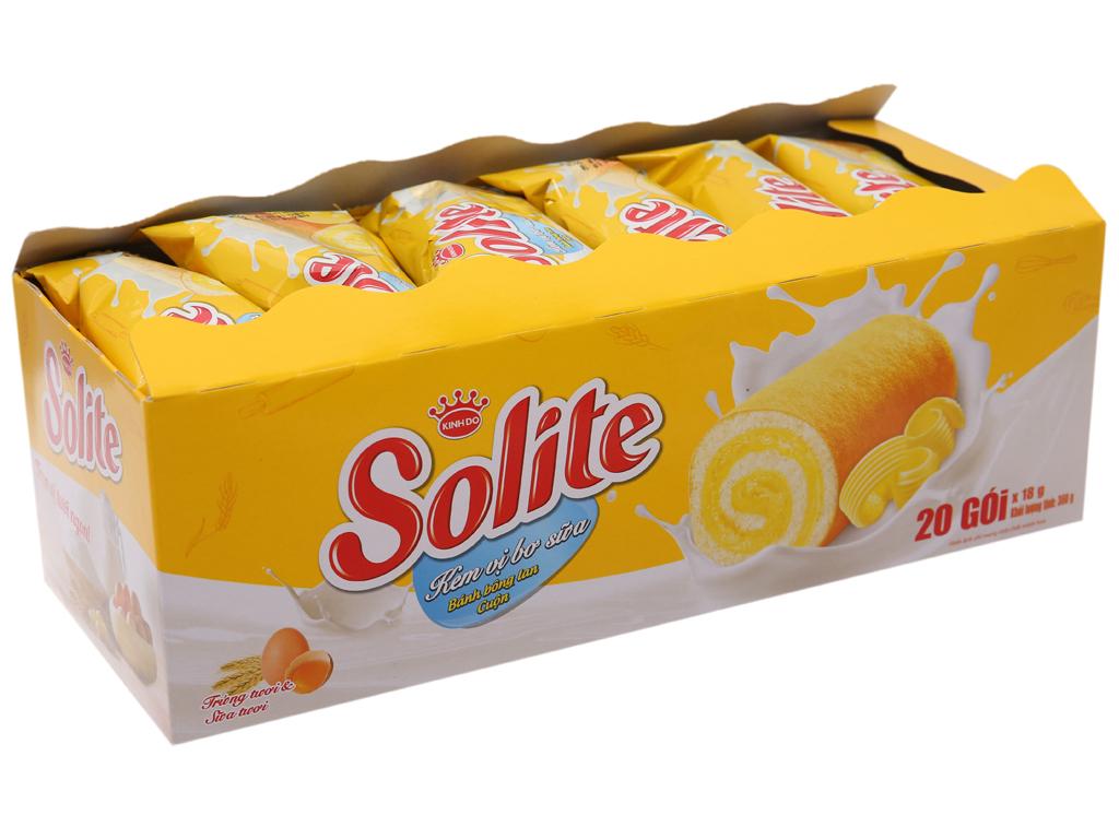 Bánh bông lan Solite kem vị bơ sữa 360g 2