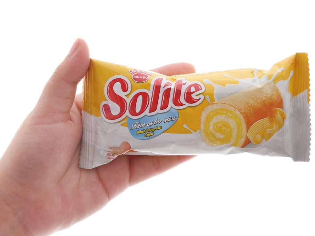 Bánh bông lan cuộn kem vị bơ sữa Solite hộp 360g (20 cái) 4