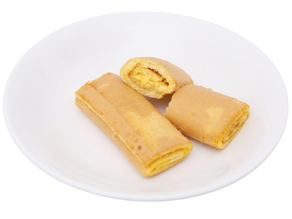 Hộp 20 bánh trứng cuộn kem bơ sữa Hura Swissroll 18g 5