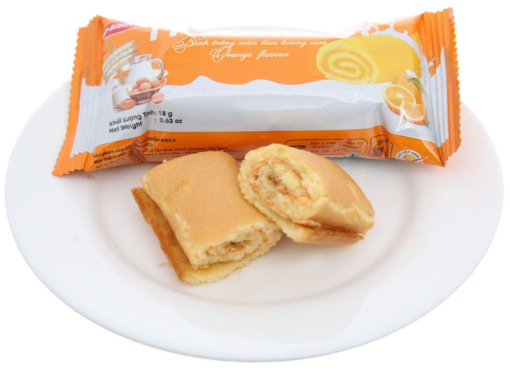 Bánh trứng cuộn kem hương cam Hura hộp 360g (20 cái) 4