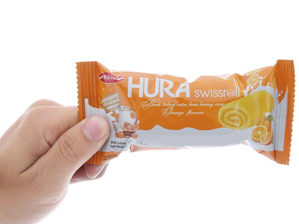 Bánh trứng cuộn kem hương cam Hura hộp 360g (20 cái) 3