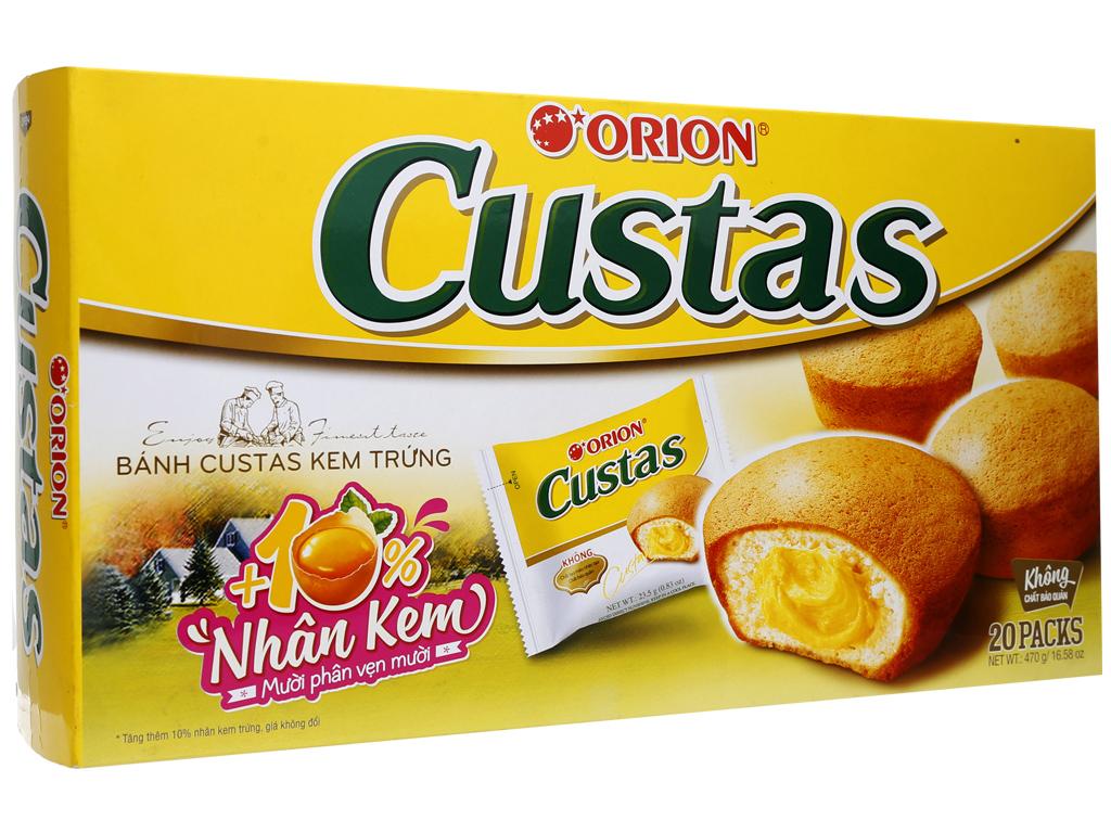 Bánh kem trứng Custas hộp 470g (20 cái) 1