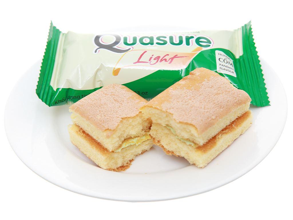 Bánh bông lan cho người tiểu đường hương cốm Quasure Light hộp 126g (7 cái) 4