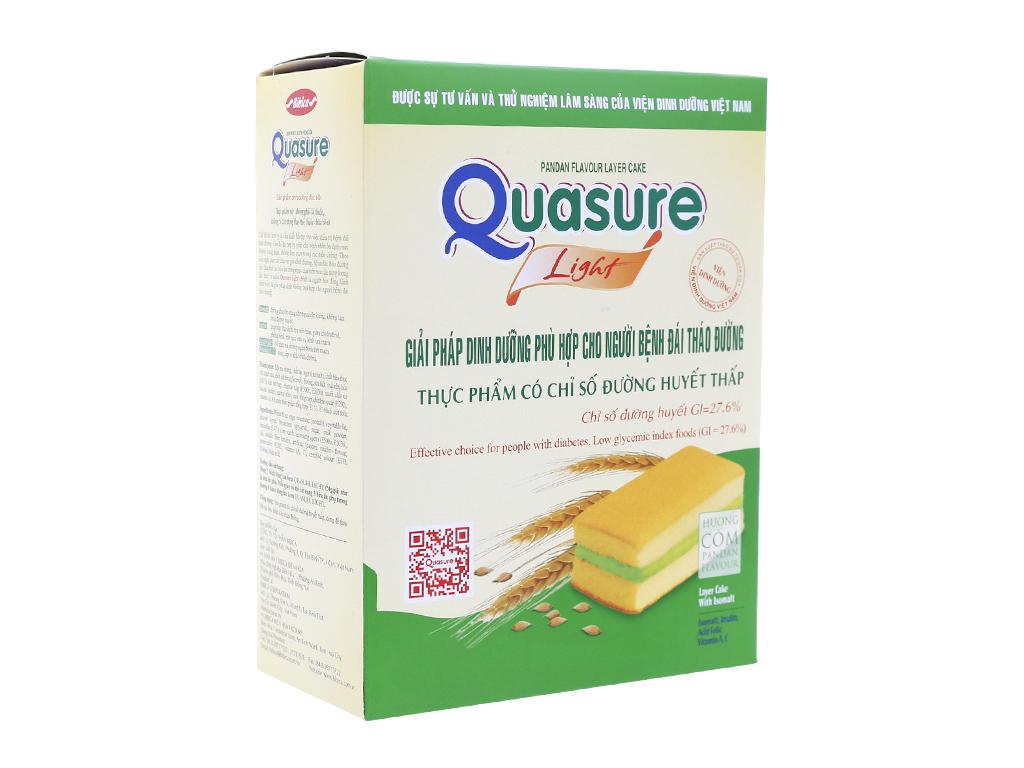 Bánh bông lan kem cốm Quasure cho người tiểu đường 126g 7 cái 1