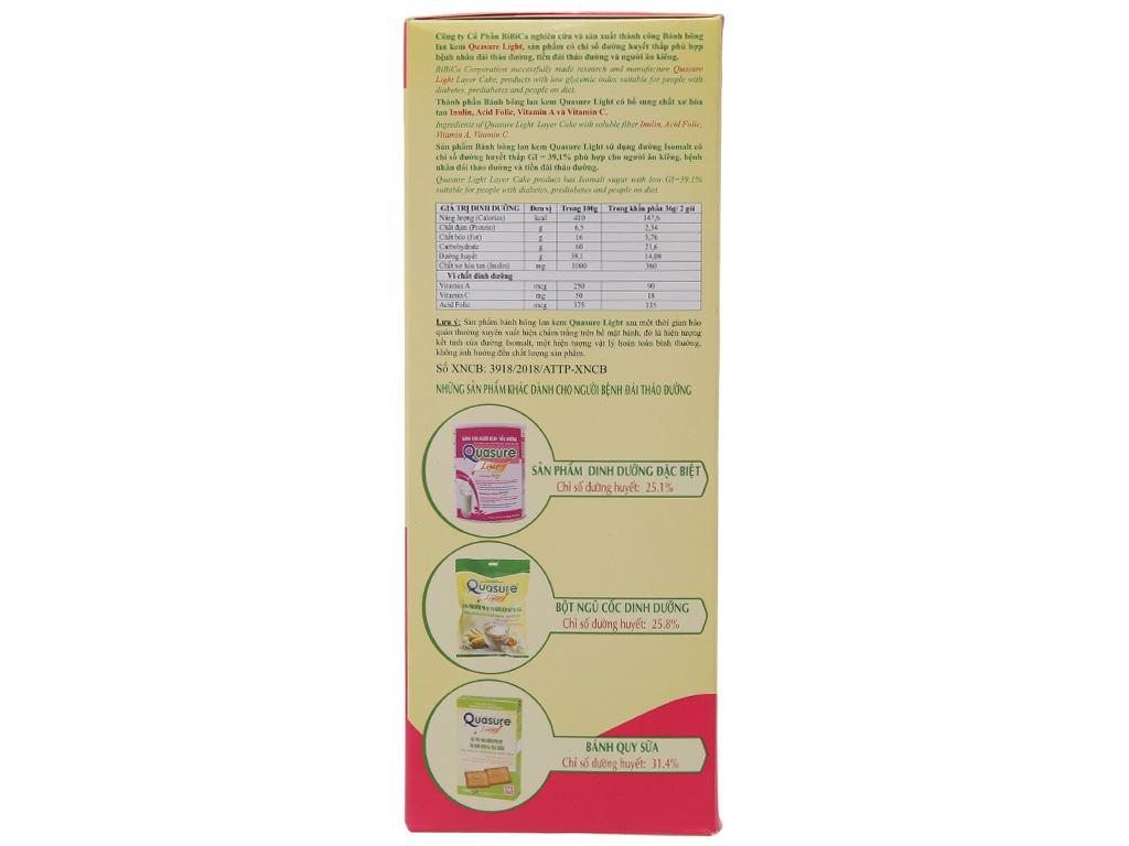 Bánh bông lan cho người tiểu đường kem hương dâu Quasure hộp 126g (7 cái) 2