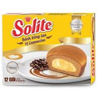 Bánh bông lan nhân kem Capuchinno Solite 276g (12 cái)