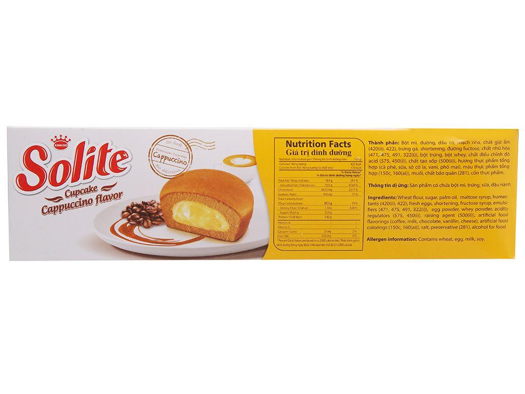 Bánh bông lan vị cappuccino Solite hộp 276g (12 cái) 2