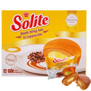 Bánh bông lan vị cappuccino Solite hộp 276g (12 cái)