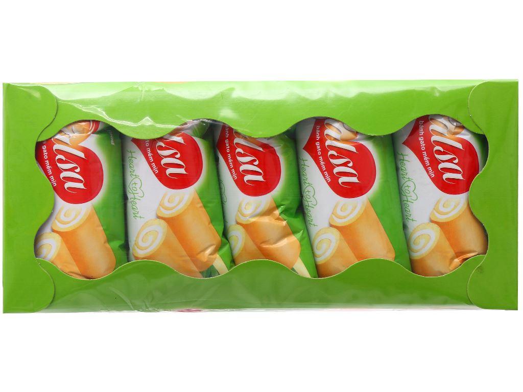 Hộp 10 bánh bông lan cuộn kem hương cốm Salsa 18g 1