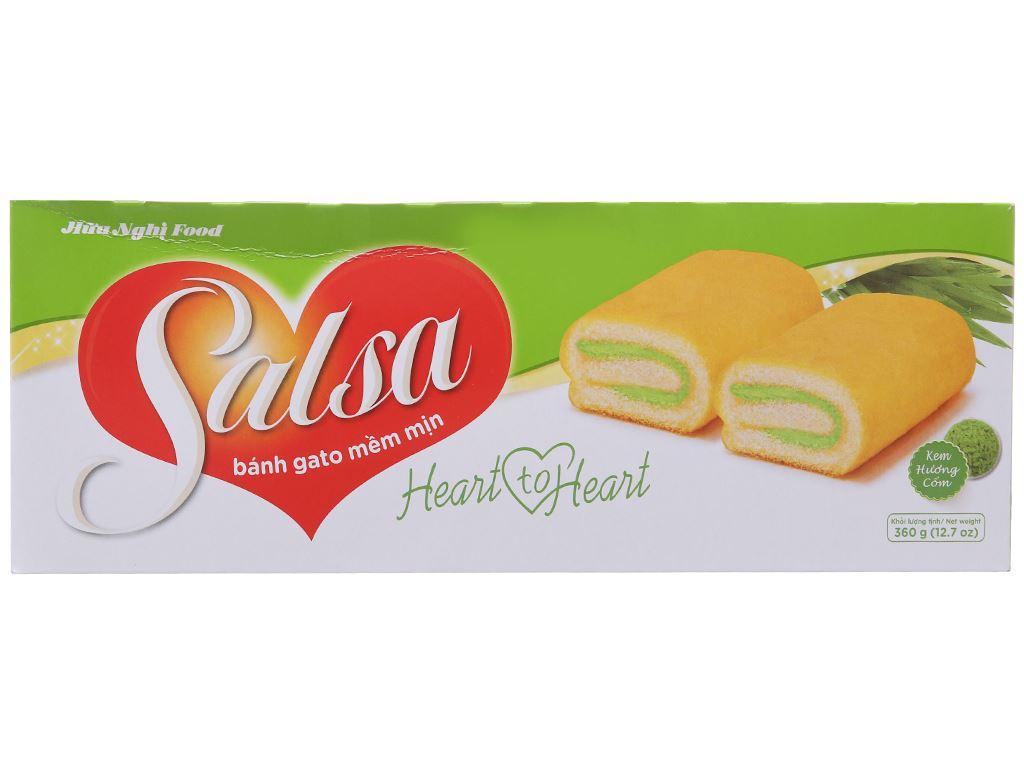 Bánh bông lan cuộn kem hương cốm Salsa hộp 360g (20 cái) 1