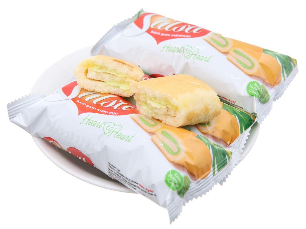Bánh bông lan cuộn kem hương cốm Salsa hộp 360g (20 cái) 4