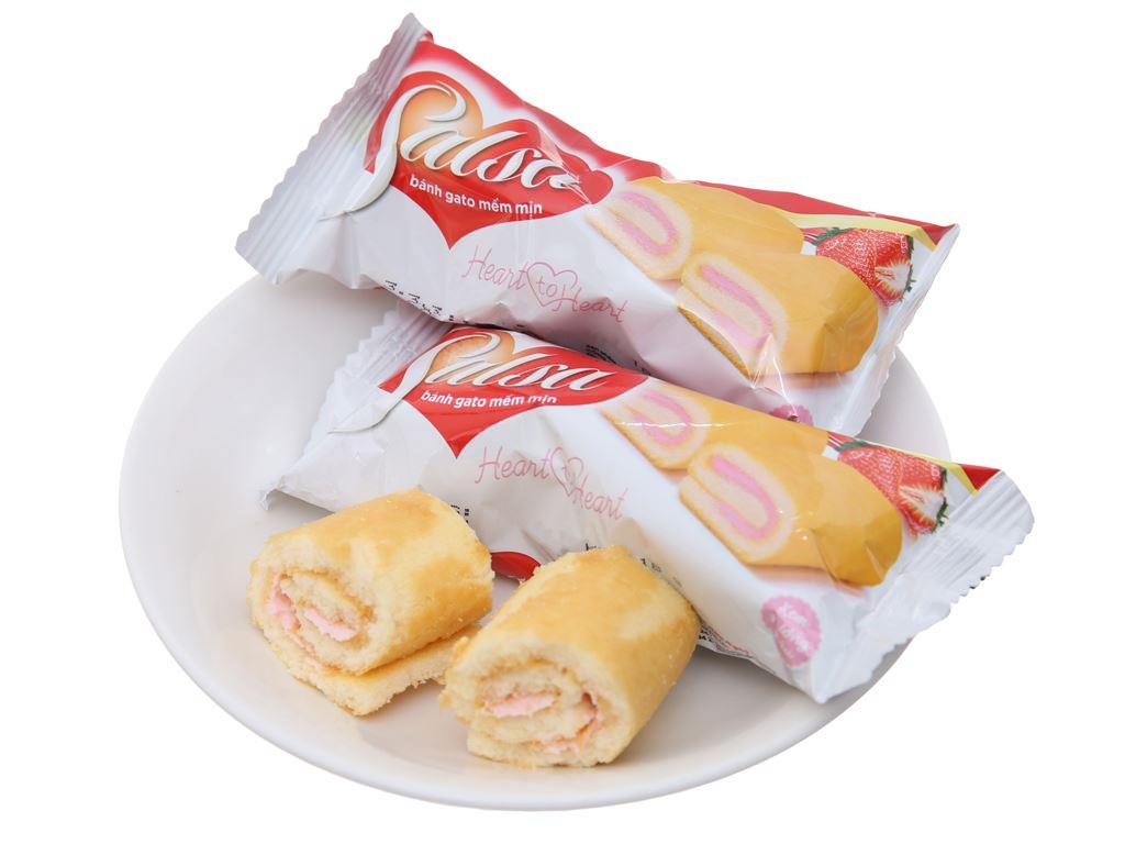 Bánh bông lan Salsa kem hương dâu 360g 20 cái 5