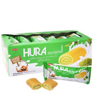 Bánh trứng cuộn kem hương cốm Hura hộp 360g (20 cái)