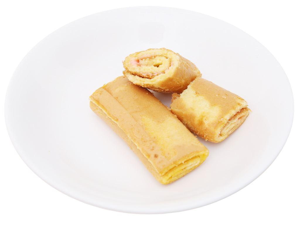Bánh trứng cuộn kem hương dâu Hura Swissroll hộp 360g (20 cái) 4