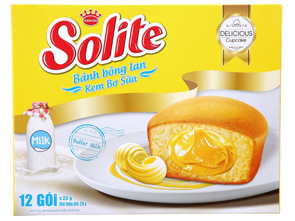 Bánh bông lan kem bơ sữa Solite hộp 276g (12 cái) 1
