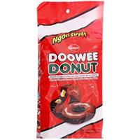 Bánh Donut Doowee phủ socola nhân kem trứng 360g (12 cái)