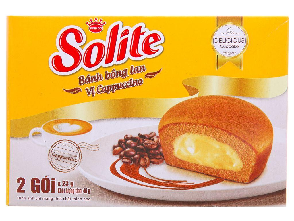 Bánh bông lan vị cappuccino Solite hộp 46g (2 cái) 1