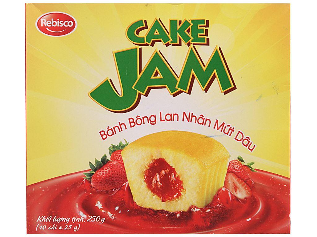 Hộp 10 bánh bông lan nhân mứt dâu Rebisco Care Jam 2