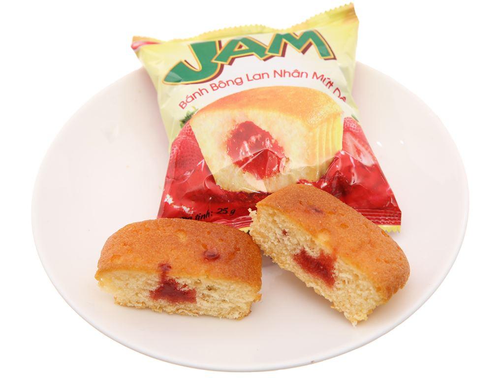 Hộp 10 bánh bông lan nhân mứt dâu Rebisco Care Jam 5