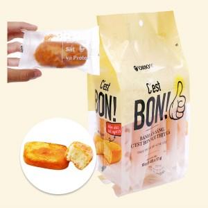 Bánh bông lan sợi thịt gà Orion C'est Bon gói 85g (5 bánh)