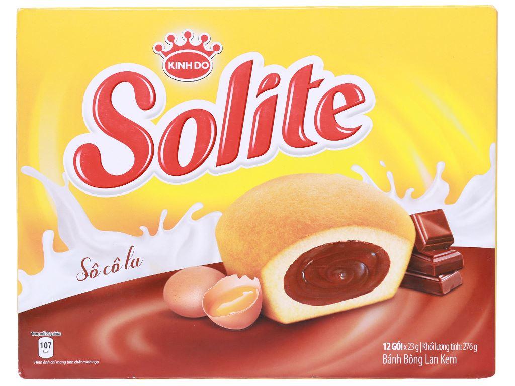 Bánh bông lan kem socola Solite hộp 276g (12 cái) 1