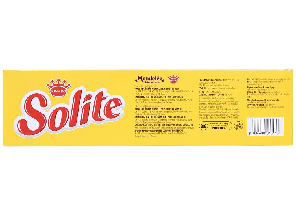 Bánh bông lan kem socola Solite hộp 276g (12 cái) 3