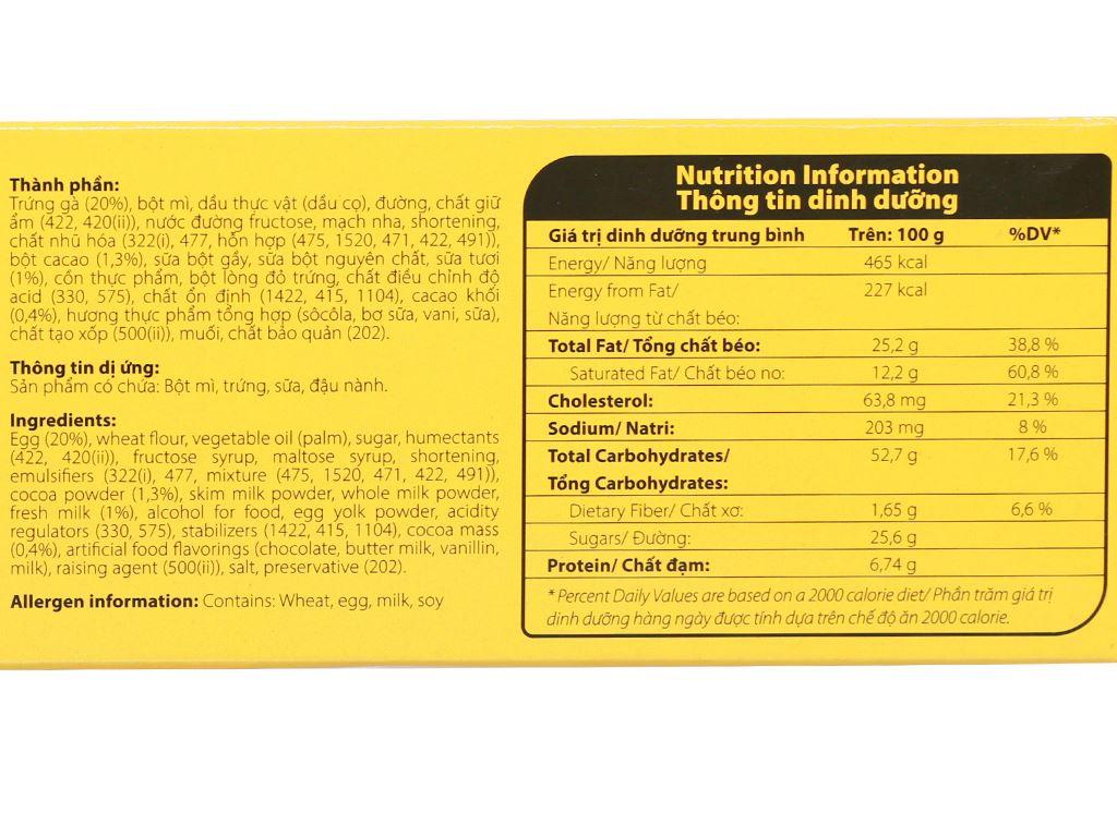 Bánh bông lan kem socola Solite hộp 276g (12 cái) 4