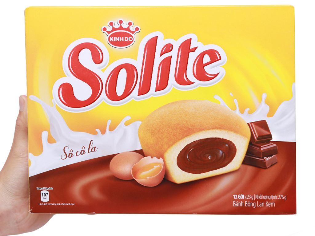 Bánh bông lan kem socola Solite hộp 276g (12 cái) 5