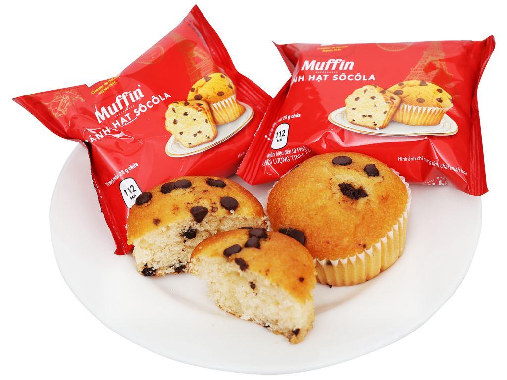 Bánh muffin hạt socola Lu hộp 100g (4 cái) 6