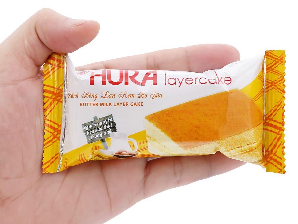 Bánh bông lan kem bơ sữa Hura Layercake hộp 300g (20 gói) 7