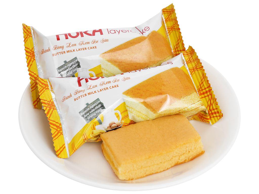 Bánh bông lan kem bơ sữa Hura Layercake hộp 300g (20 gói) 8