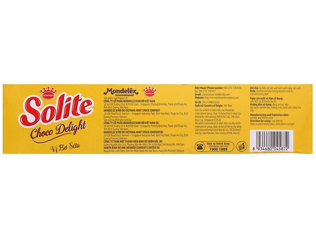 Bánh phủ socola vị bơ sữa Solite hộp 280g 2