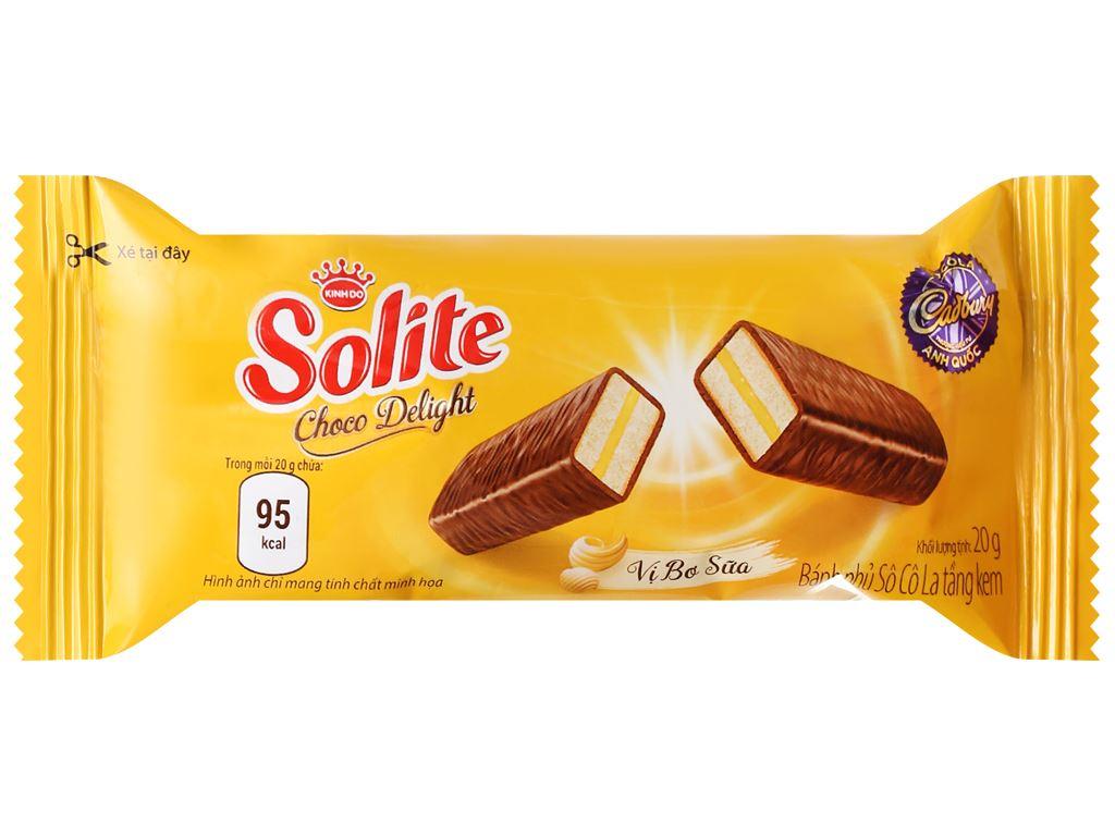 Bánh phủ socola vị bơ sữa Solite hộp 280g 4