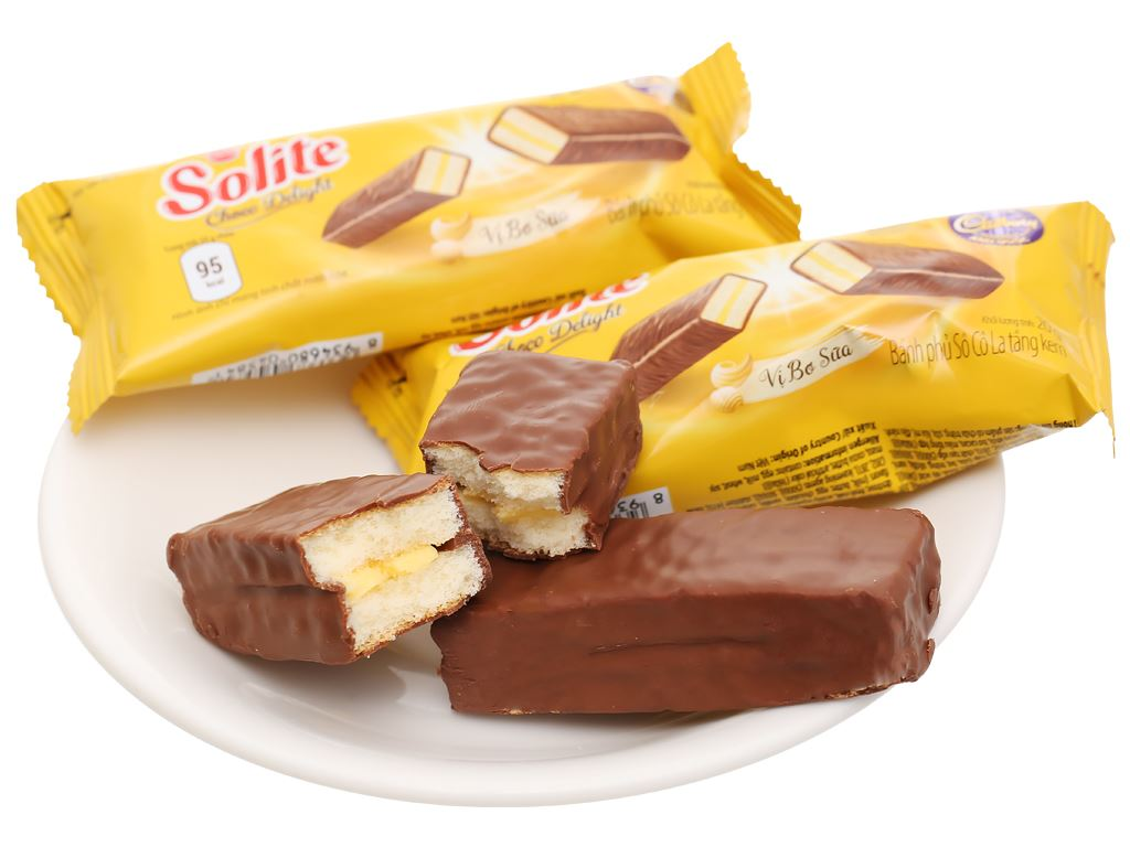 Bánh phủ socola vị bơ sữa Solite hộp 280g 8