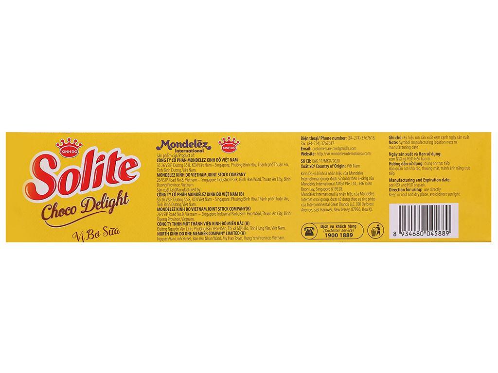 Bánh phủ socola vị bơ sữa Solite hộp 120g 2
