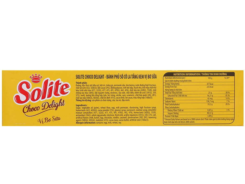 Bánh phủ socola vị bơ sữa Solite hộp 120g 3