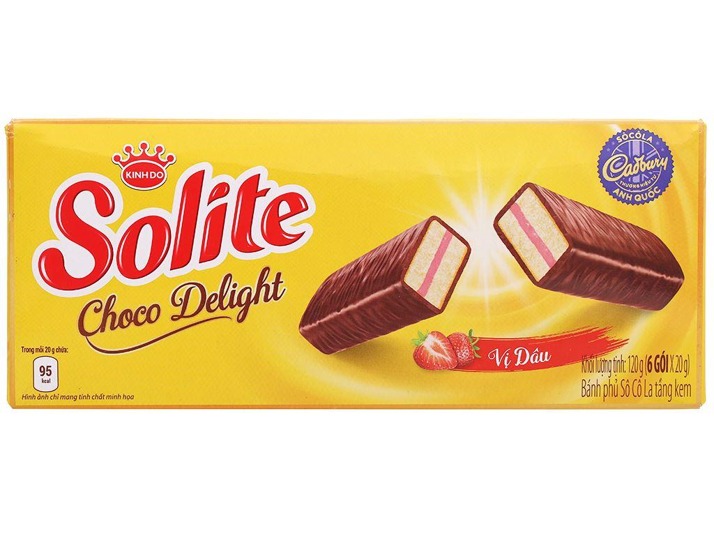 Bánh phủ socola vị dâu Solite hộp 120g 1