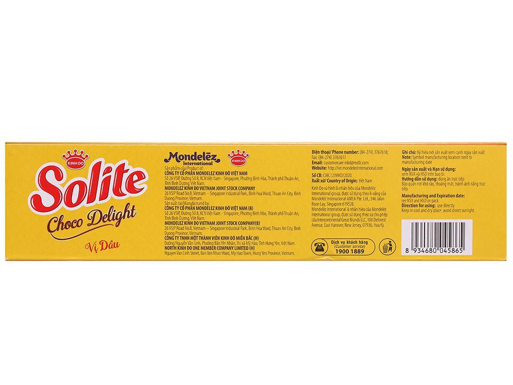 Bánh phủ socola vị dâu Solite hộp 120g 2