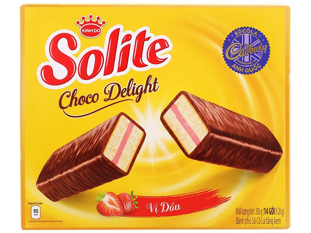 Bánh phủ socola vị dâu Solite hộp 280g 1