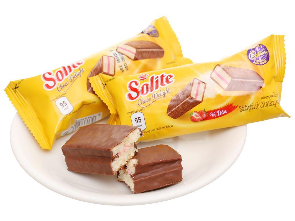 Bánh phủ socola vị dâu Solite hộp 280g 8