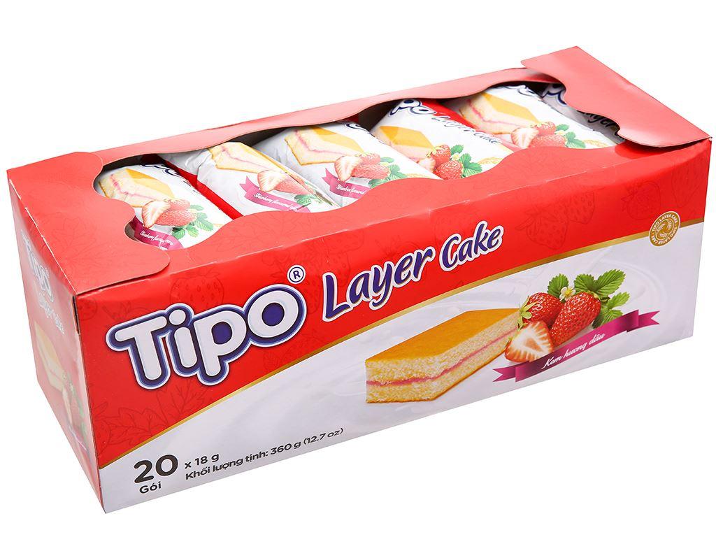 Bánh bông lan hương dâu Tipo hộp 360g 1